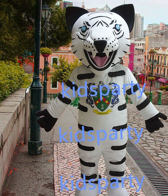 New white tiger mascot costumes  fursuit christmas Halloween costume