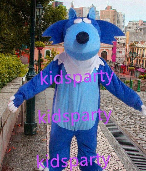 New blue wolf mascot costumes  fursuit christmas Halloween costume