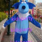 New blue wolf mascot costumes  fursuit christmas Halloween costume