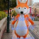 New orange fox mascot costumes  fursuit christmas Halloween costume