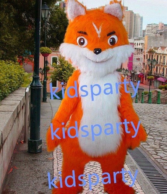 New long plush fox mascot costumes  fursuit christmas Halloween costume