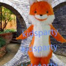 New orange fox Mascot Costume Mascot Parade Quality Clowns Birthdays Fancy dress party