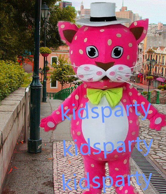 New pink cat mascot costumes  fursuit christmas Halloween costume