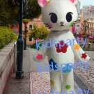 New white flower cat mascot costumes  fursuit christmas Halloween costume