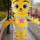 New yellow Cat Mascot Costume Mascot Parade Quality Clowns Birthdays Fancy dress party
