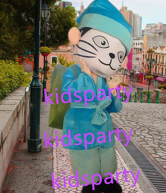 New blue Cat Mascot Costume Mascot Parade Quality Clowns Birthdays Fancy dress party