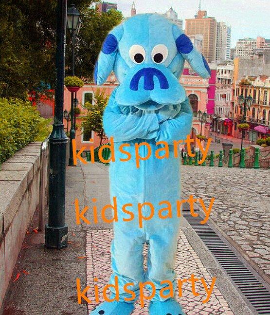 New blue dog Mascot Costume Mascot Parade Quality Clowns Birthdays Fancy dress party