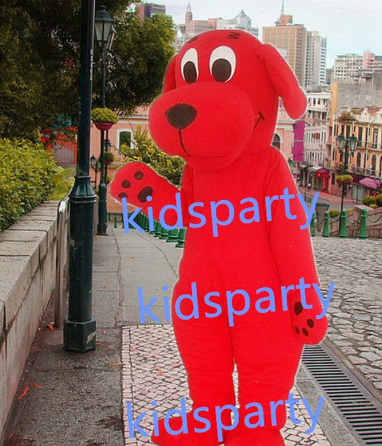 New red dog Mascot Costume Mascot Parade Quality Clowns Birthdays Fancy dress party