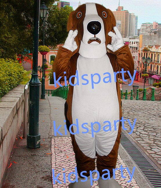 New dog Mascot Costume Mascot Parade Quality Clowns Birthdays Fancy dress party
