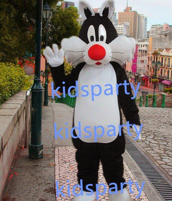 New black cat Mascot Costume Mascot Parade Quality Clowns Birthdays Fancy dress party
