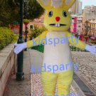 New yellow rabbit Mascot Costume Mascot Parade Quality Clowns Birthdays Fancy dress party