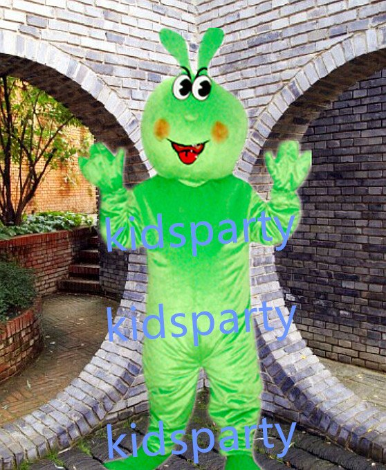 New green rabbit Mascot Costume Mascot Parade Quality Clowns Birthdays Fancy dress party