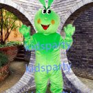 New green rabbit Mascot Costume Mascot Parade Quality Clowns Birthdays Fancy dress party