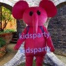 New pink Elephant Mascot Costume Mascot Parade Quality Clowns Birthdays Fancy dress party