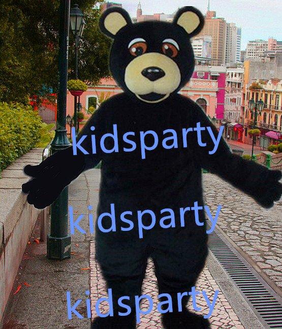 New black bear Mascot Costume Mascot Parade Quality Clowns Birthdays Fancy dress party