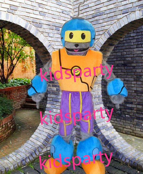 New robot Mascot Costume Mascot Parade Quality Clowns Birthdays Fancy dress party