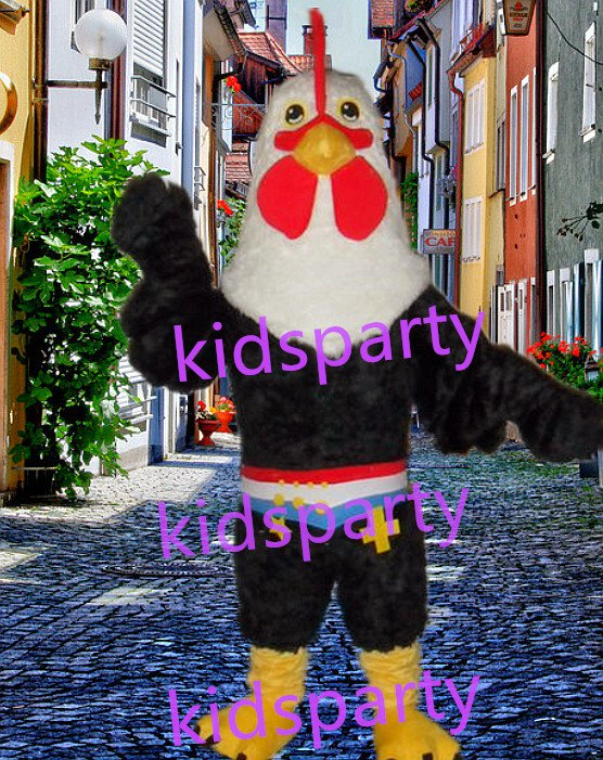 New cock Mascot Costume Mascot Parade Quality Clowns Birthdays Fancy dress party