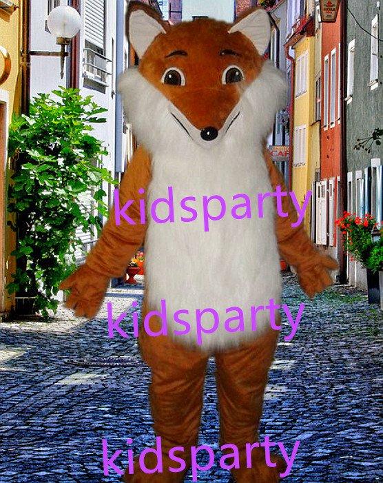 New fox Mascot Costume Mascot Parade Quality Clowns Birthdays Fancy dress party