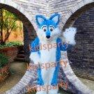 Blue fox fursuit mascot costume Fancy Dress wolf fursuit Halloween party costume Carnival Costume