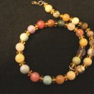 Multi Gemstone Goldtone Necklace