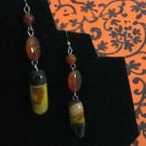 Handmade Genuine Agate and Silver Earrings