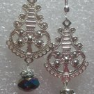 Silver Plated Chandeliers with Swarovski Crystal Earrings