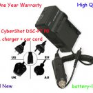 Charger + Adapter For Sony CyberShot DSC-P7 P8 P9 V1