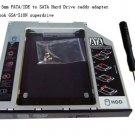 2nd 9.5mm PATA/IDE to SATA Hard Drive caddy adapter Macbook GSA-S10N superdrive