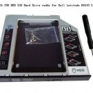 9.5mm SATA 2ND HDD SSD Hard Drive caddy for Dell Latitude E6530 UJ8B2 GU60N