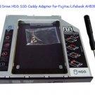 2nd Hard Drive HDD SSD Caddy Adapter for Fujitsu Lifebook AH530 AH532