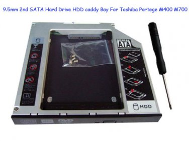 9.5mm 2nd SATA Hard Drive HDD caddy Bay For Toshiba Portege M400 M700 Series
