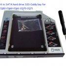 2nd SATA to SATA hard drive SSD Caddy bay for Compaq CQ50 CQ60 CQ61 CQ70 CQ71