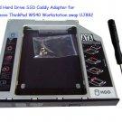 2nd Hard Drive SSD Caddy Adapter for Lenovo ThinkPad W540 Workstation swap UJ8B2