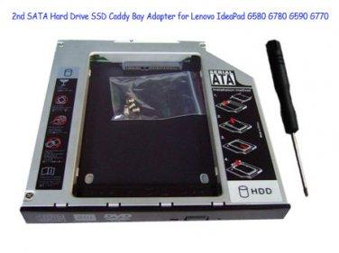 2nd SATA Hard Drive SSD Caddy Bay Adapter for Lenovo IdeaPad G580 G780 G590 G770