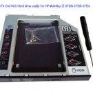 SATA 2nd HDD Hard Drive SSD Caddy Optical Adapter for HP dv6 dv6t dv7 i3 i5 i7