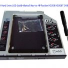 2nd SATA Hard Drive SSD Caddy Optical Bay for HP Pavilion HDX18 HDX18T DV8 DV8T
