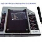 2nd SATA Hard Drive Caddy Optical Bay Adapter Bay for HP AK868AA