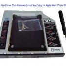 2nd SATA Hard Drive SSD Aluminum Optical Bay Caddy for Apple iMac 27 late 2009