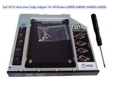 2nd SATA Hard drive Caddy Adapter for HP Pavilion dv8000 dv8000t dv8000z dv8100
