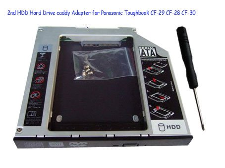 2nd HDD Hard Drive caddy Adapter for Panasonic Toughbook CF-29 CF-28 CF-30
