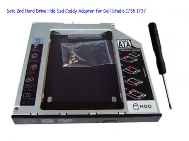 Sata 2nd Hard Drive Hdd Ssd Caddy Adapter for Dell Studio 1735 1737