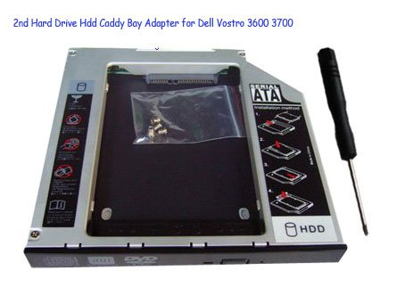 2nd Hard Drive Hdd Caddy Bay Adapter for Dell Vostro 3600 3700