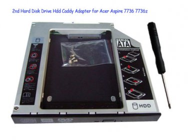 2nd Hard Disk Drive Hdd Caddy Adapter for Acer Aspire 7736 7736z