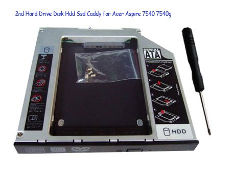 2nd Hard Drive Disk Hdd Ssd Caddy for Acer Aspire 7540 7540g