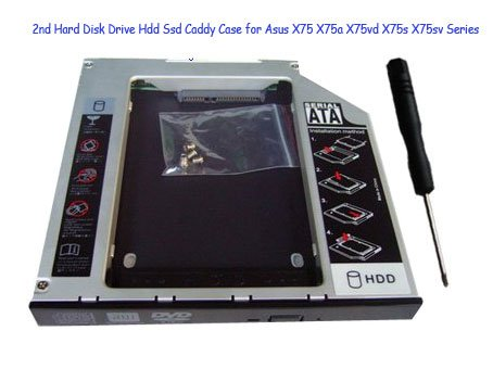 2nd Hard Disk Drive Hdd Ssd Caddy Case for Asus X75 X75a X75vd X75s X75sv Series
