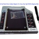 2nd Hdd Ssd Hard Drive Caddy Adapter for Sony Vaio Vpcf226fm Replace Bdc-td03 Dvd