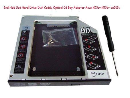 2nd Hdd Ssd Hard Drive Disk Caddy Optical Cd Bay Adapter Asus K53sv K53sv-sx513v