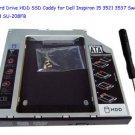 2nd Hard Drive HDD SSD Caddy for Dell Inspiron 15 3521 3537 Swap SU-208 SU-208FB