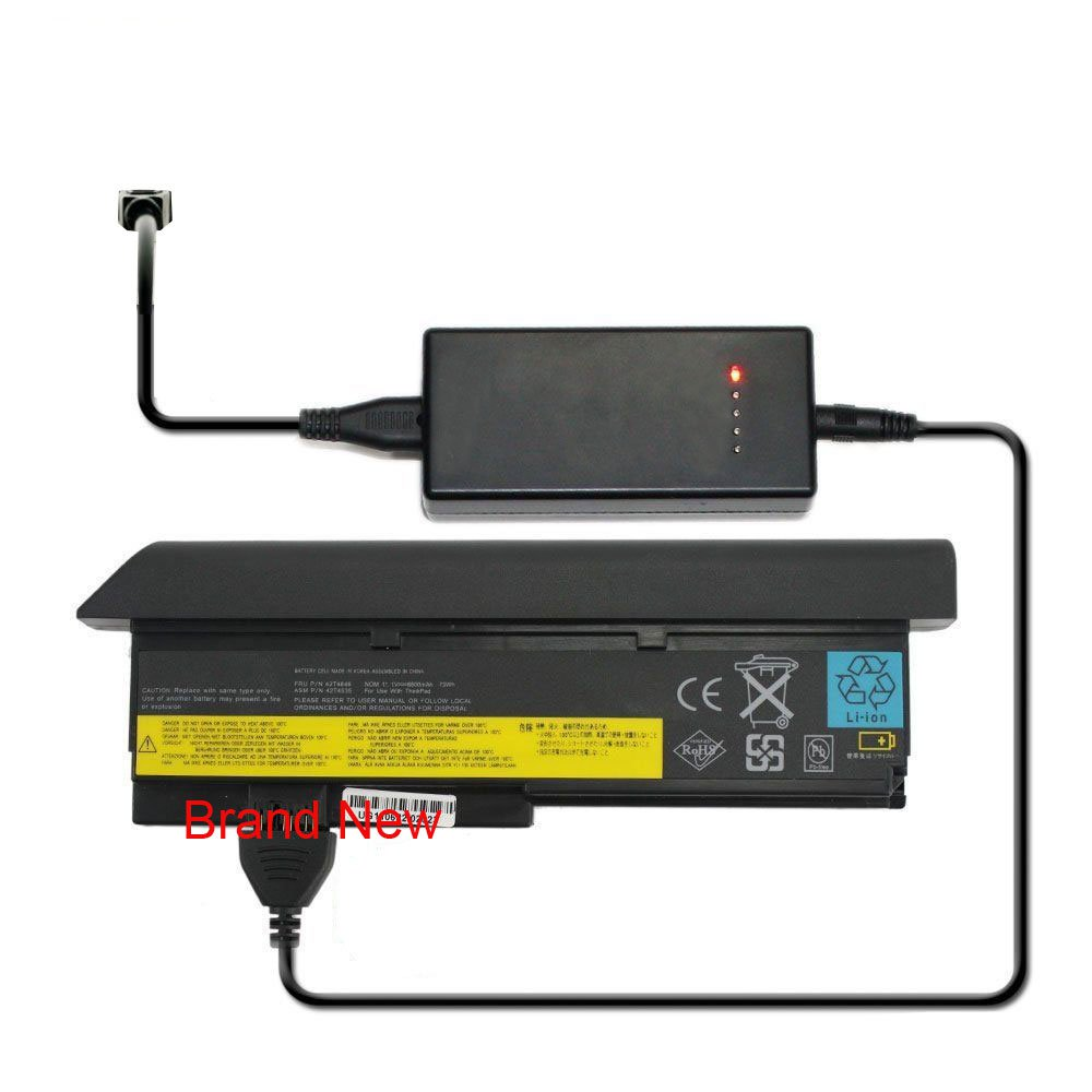 External Laptop Battery Charger for IBM Thinkpad R61 R61e R61i T500 T61 T61p W500