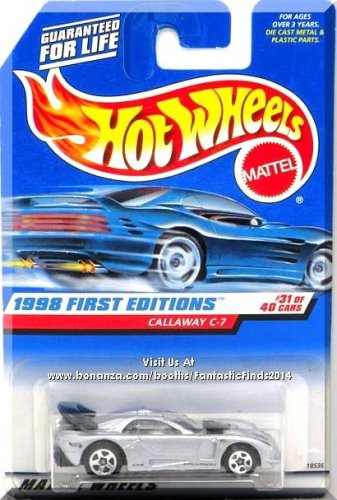 Hot Wheels - Callaway C-7: 1998 First Editions #31/40 - Collector #677 *Silver*